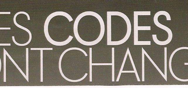 Les codes ont changé