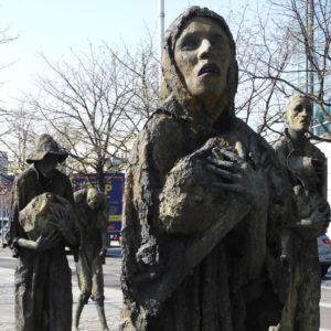 Famine statues